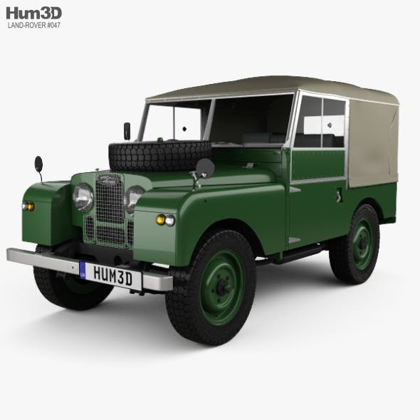 Land Rover Series I 80 Soft Top 1953 - 3DOcean Item for Sale