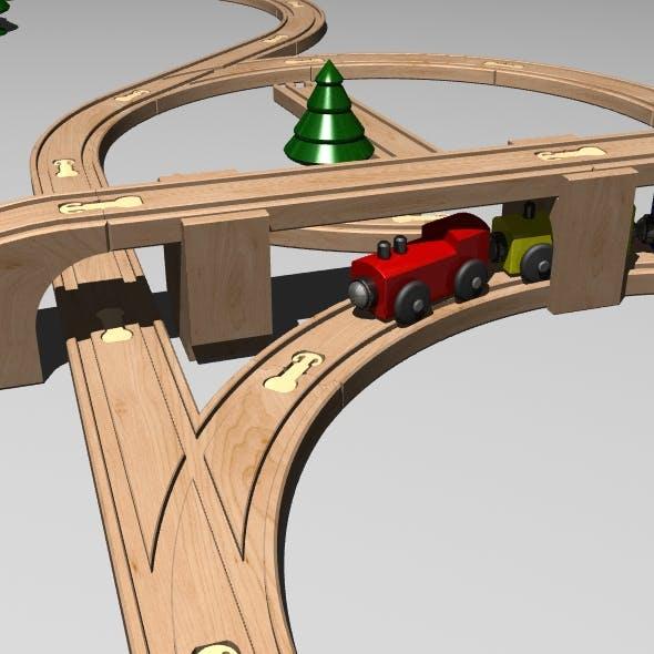 Train Set - 3DOcean Item for Sale
