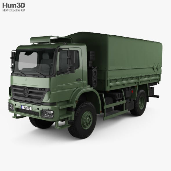 Mercedes-Benz Axor (1828A) Military Truck 2005 - 3DOcean Item for Sale
