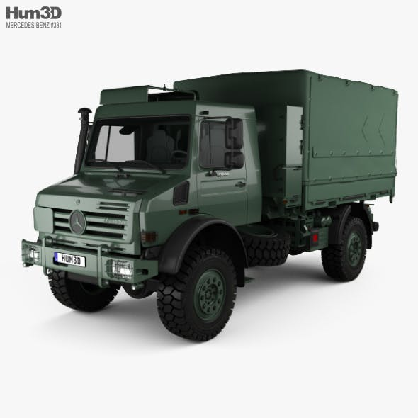 Mercedes-Benz Unimog U5000 Military Truck 2002 - 3DOcean Item for Sale