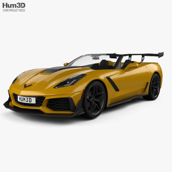 Chevrolet Corvette (C7) convertible ZR1 2017 - 3DOcean Item for Sale