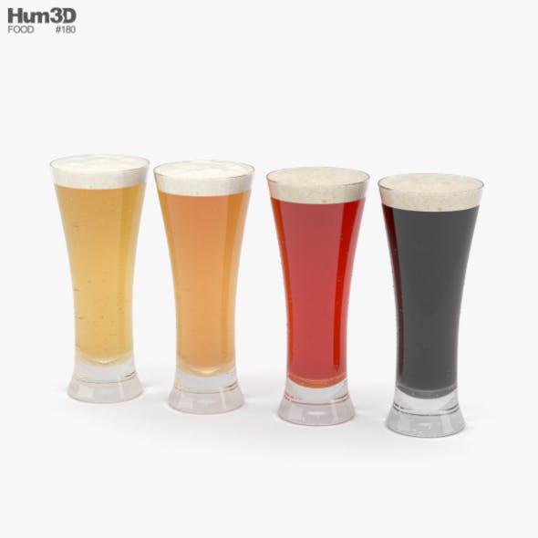 Beer Pilsner Glass - 3DOcean Item for Sale