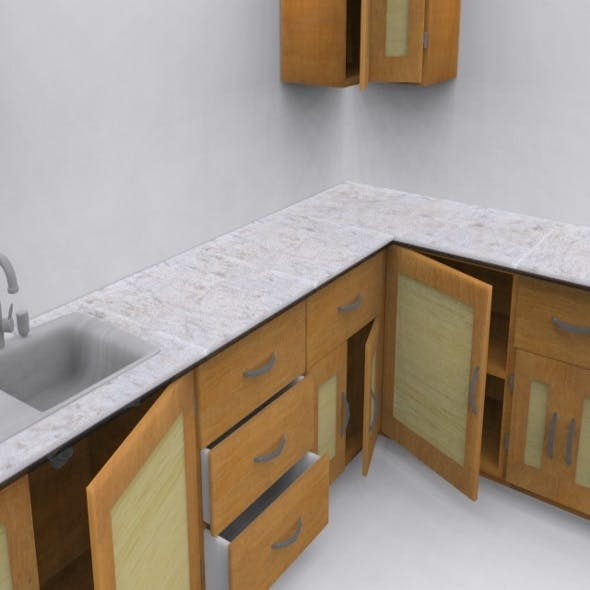 Low Poly Kitchen Interiors - 3DOcean Item for Sale