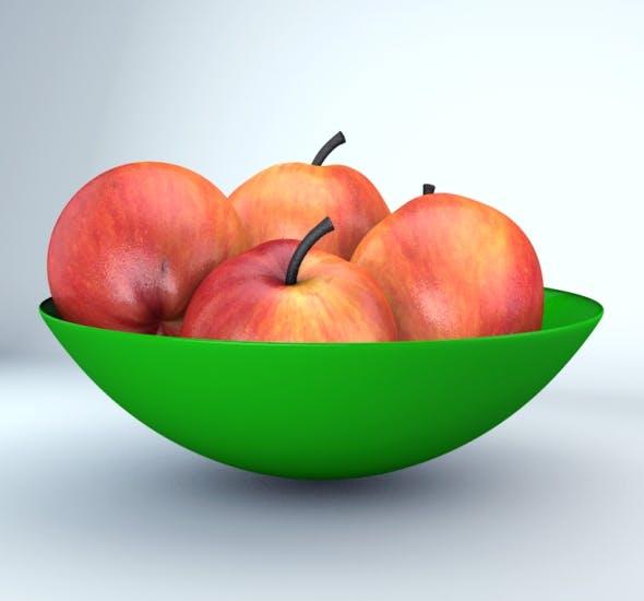3D Apple Model - 3DOcean Item for Sale