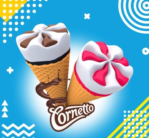 Cornetto Ice Cream - 3DOcean Item for Sale