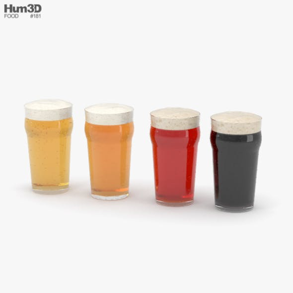 Beer Pint Glass - 3DOcean Item for Sale