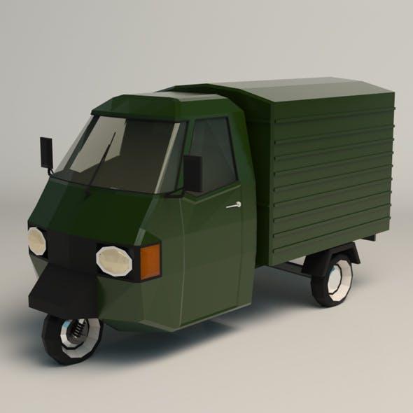 Low Poly Three Wheeled Van 02