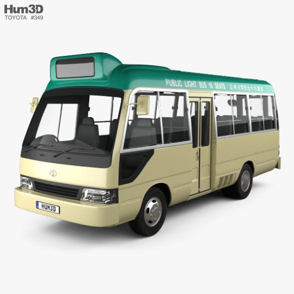 Toyota Coaster Hong Kong Bus 1995 - 3DOcean Item for Sale
