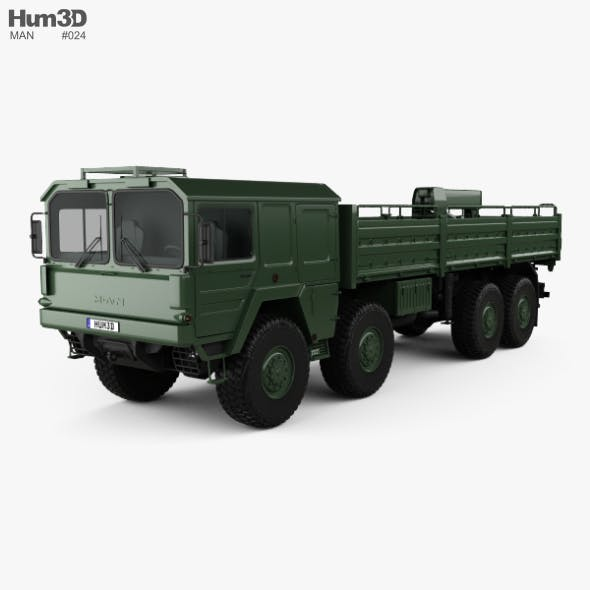MAN KAT I Military Flatbed Truck 4-axle 1976 - 3DOcean Item for Sale