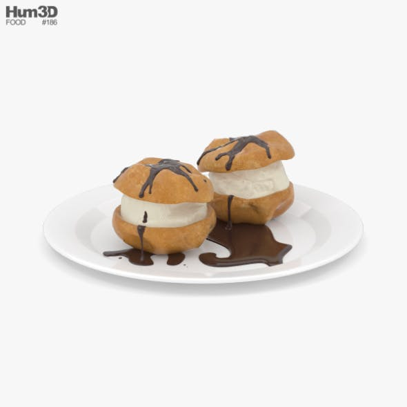 Profiteroles - 3DOcean Item for Sale