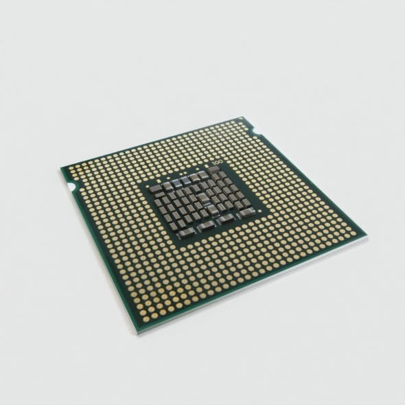 Desktop CPU 3D Model