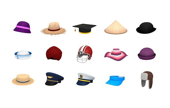 Hats and Helmet Pack 3 - 3DOcean Item for Sale
