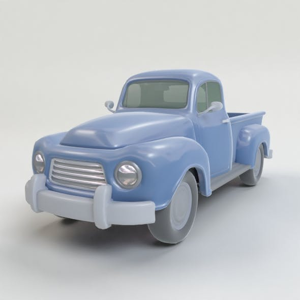 Lowpoly Cartoon Truck - 3DOcean Item for Sale