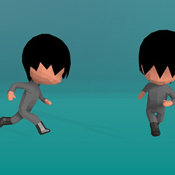 Stylised Low Poly Chibi - Animation Set