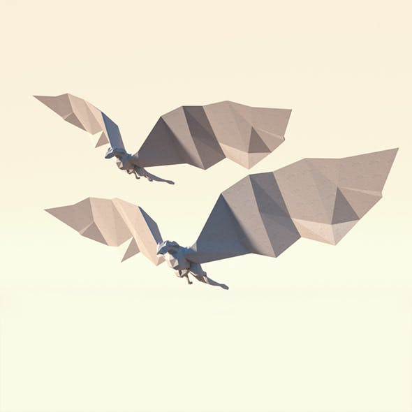 Low Poly Paper Dragon - 3DOcean Item for Sale