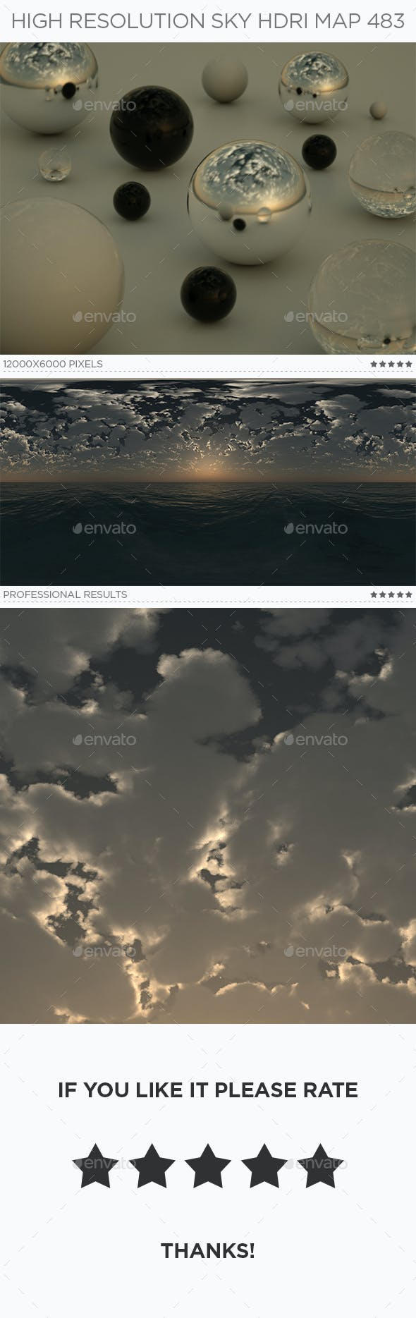 High Resolution Sky HDRi Map 483 - 3DOcean Item for Sale