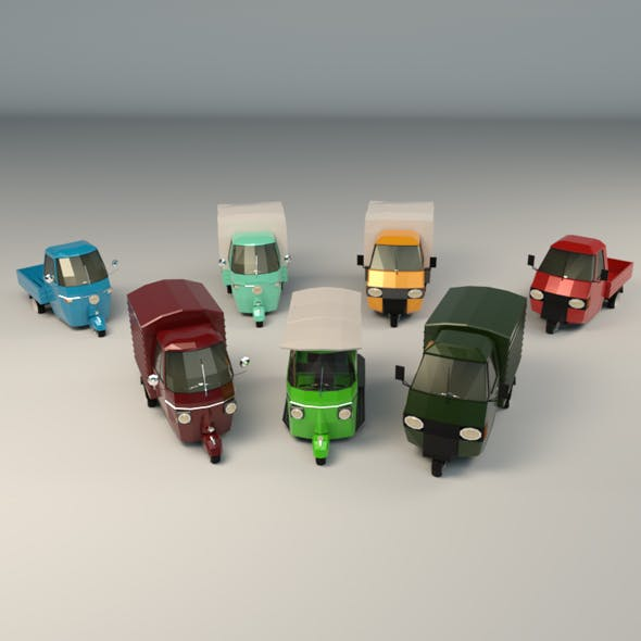 Low Poly 3-Wheeler Pack