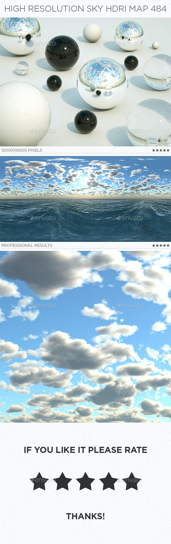 High Resolution Sky HDRi Map 484 - 3DOcean Item for Sale