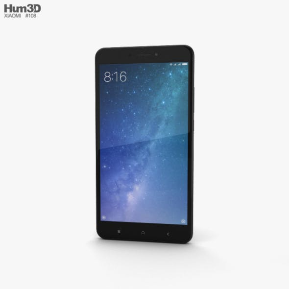 Xiaomi Mi Max 2 Matte Black - 3DOcean Item for Sale