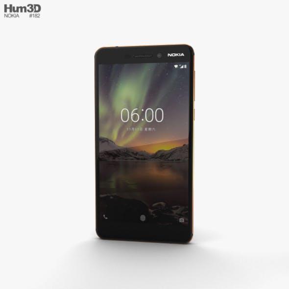 Nokia 6 (2018) Black - 3DOcean Item for Sale