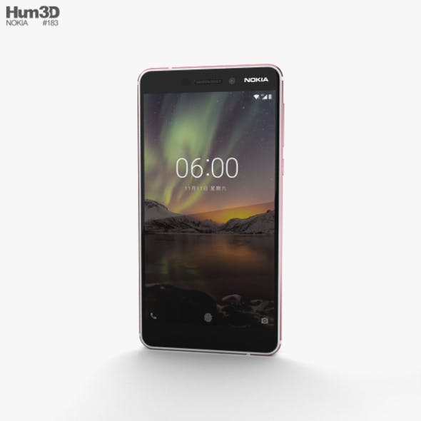 Nokia 6 (2018) Silver - 3DOcean Item for Sale