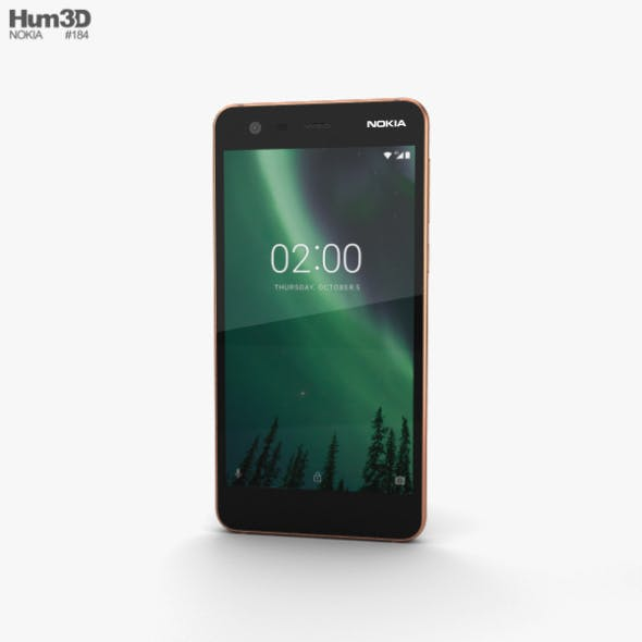 Nokia 2 Copper Black - 3DOcean Item for Sale