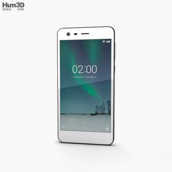 Nokia 2 Pewter White - 3DOcean Item for Sale