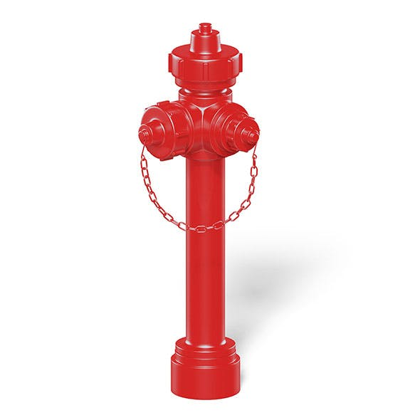 Red Fire Hydrant 3D Model - 3DOcean Item for Sale