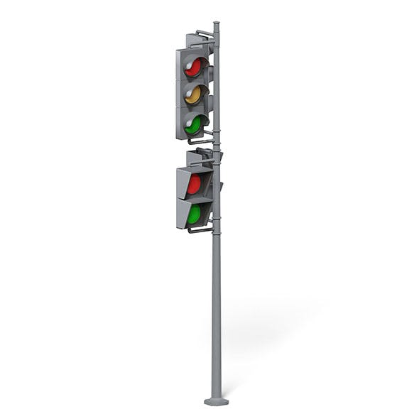 Traffic Lights 3D Model - 3DOcean Item for Sale
