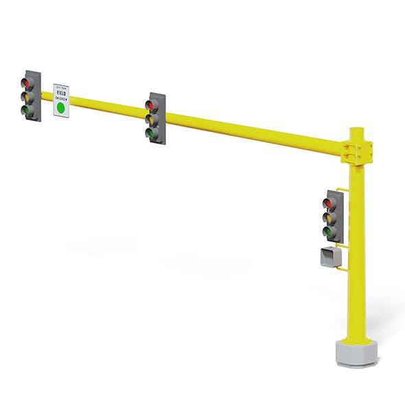 Large Traffic Lights 3D Model - 3DOcean Item for Sale