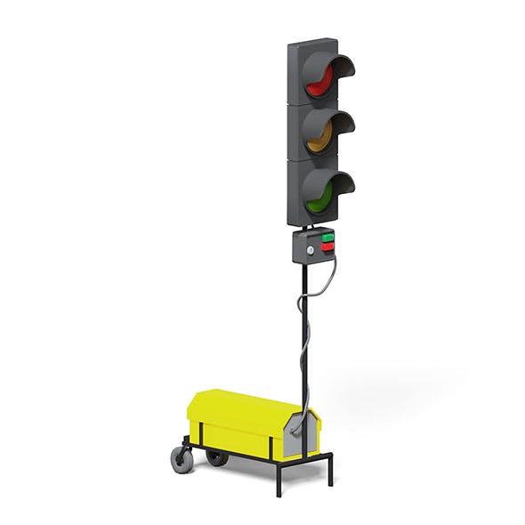 Portable Traffic Lights 3D Model - 3DOcean Item for Sale