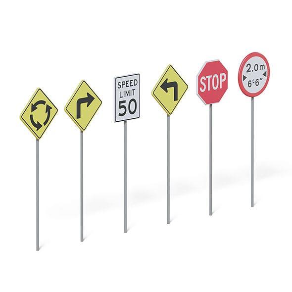 Traffic Signs 3D Model - 3DOcean Item for Sale