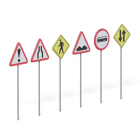Traffic Signs 3D Model - 3DOcean Item for Sale