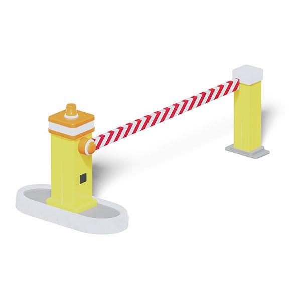 Traffic Barrier 3D Model - 3DOcean Item for Sale