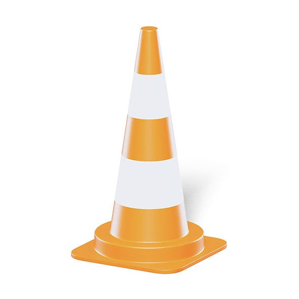 Traffic Cone 3D Model - 3DOcean Item for Sale