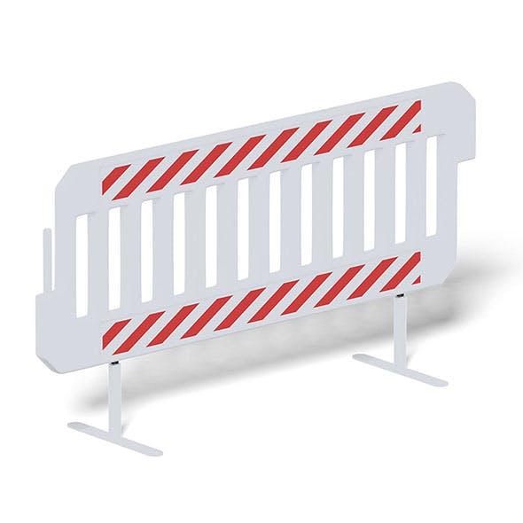 Crash Barrier 3D Model