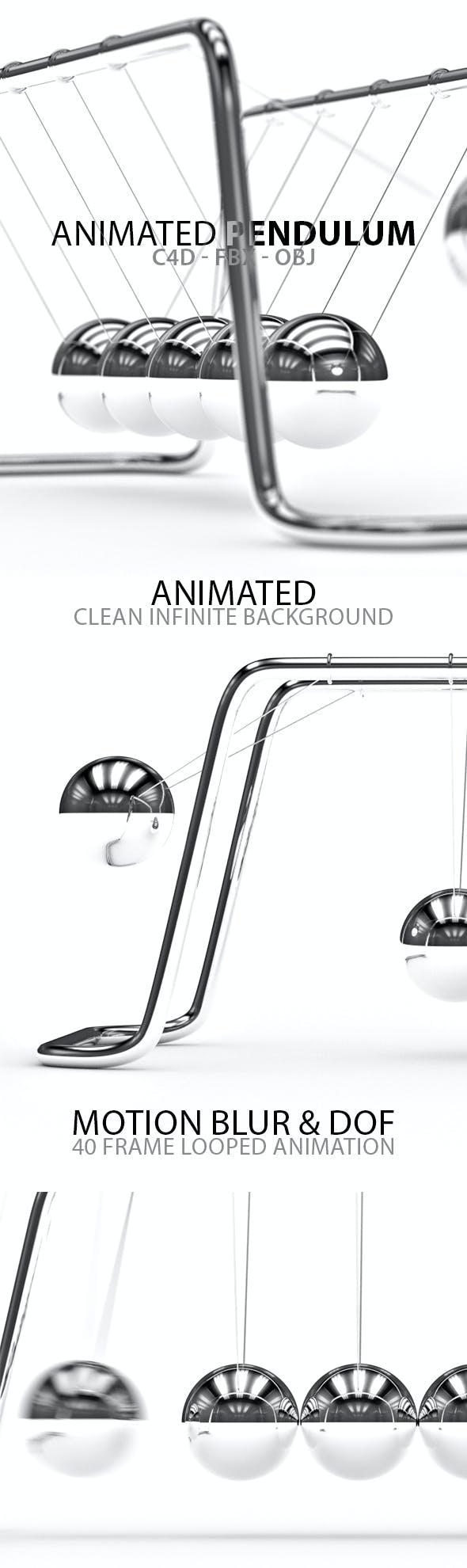 Animated Pendulum with Infinite Background - 3DOcean Item for Sale