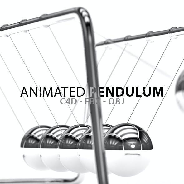 Animated Pendulum with Infinite Background