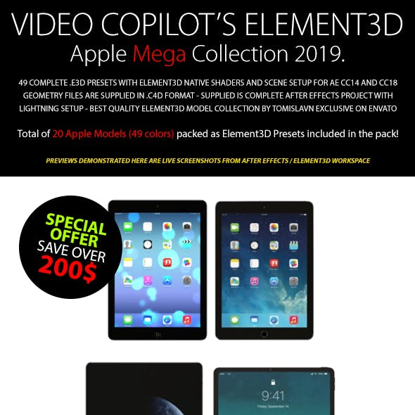 Element3D - Apple Mega Collection 2019.