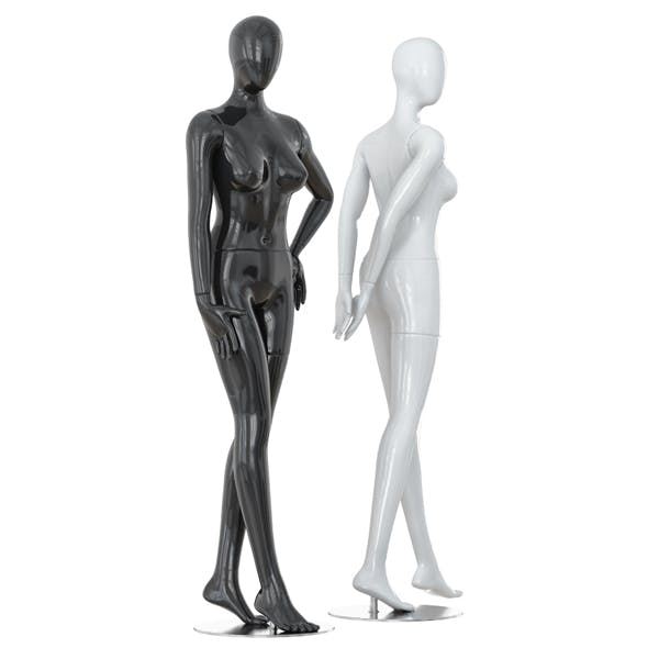 Abstract female mannequins 17 - 3DOcean Item for Sale