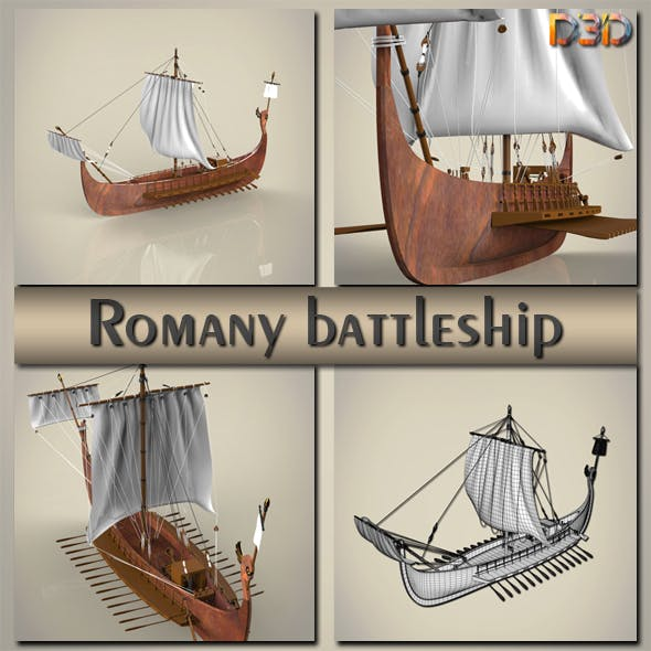 Romany battleship - 3DOcean Item for Sale