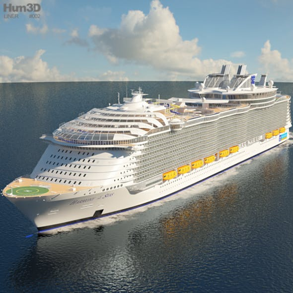 Harmony of the Seas cruise ship - 3DOcean Item for Sale