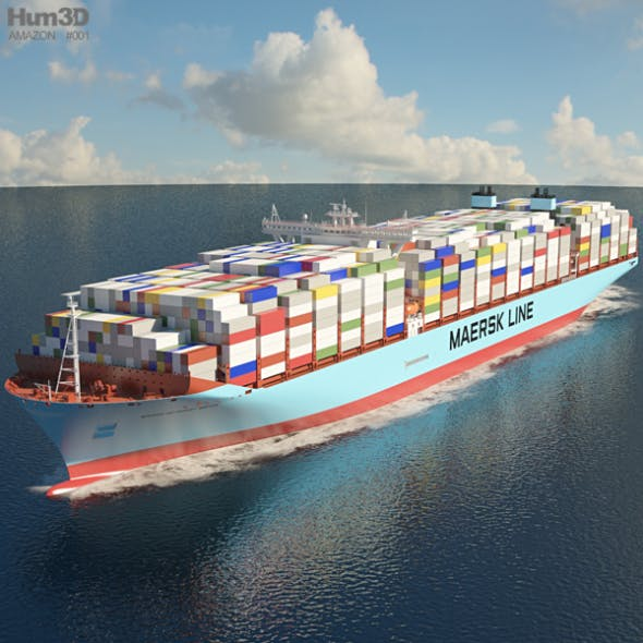 Maersk Triple E-class container ship - 3DOcean Item for Sale