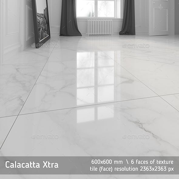 Calacatta marble floor tile by Golden Tile - 3DOcean Item for Sale