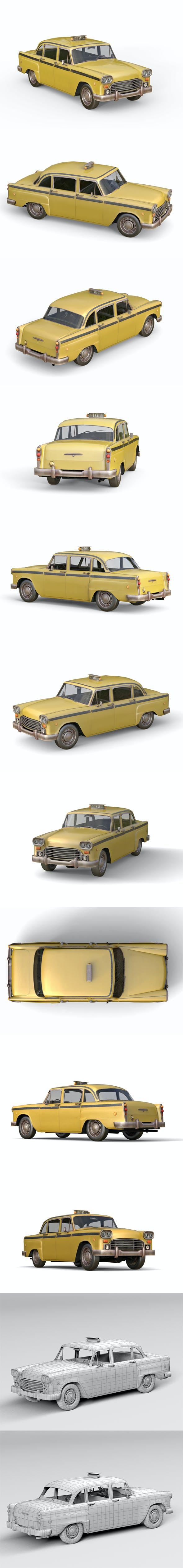Old taxi - 3DOcean Item for Sale