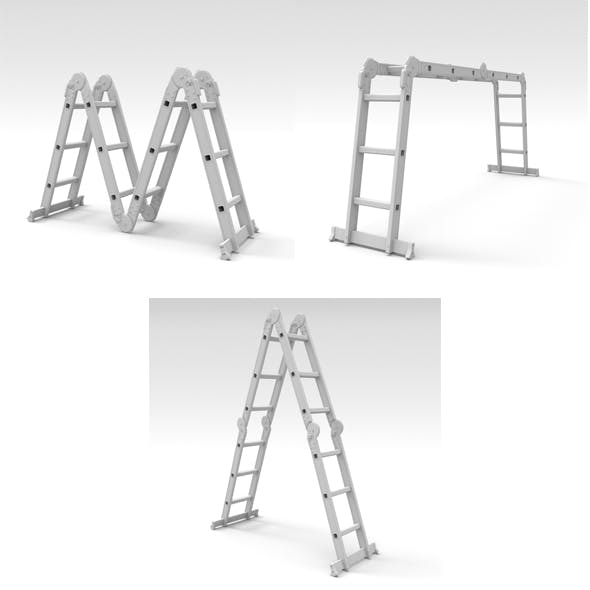 Folded ladders - 3DOcean Item for Sale