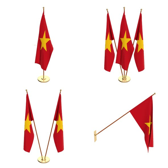 Vietnam Flag Pack - 3DOcean Item for Sale