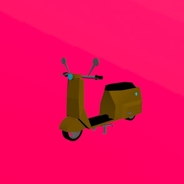 Low poly scooter - 3DOcean Item for Sale