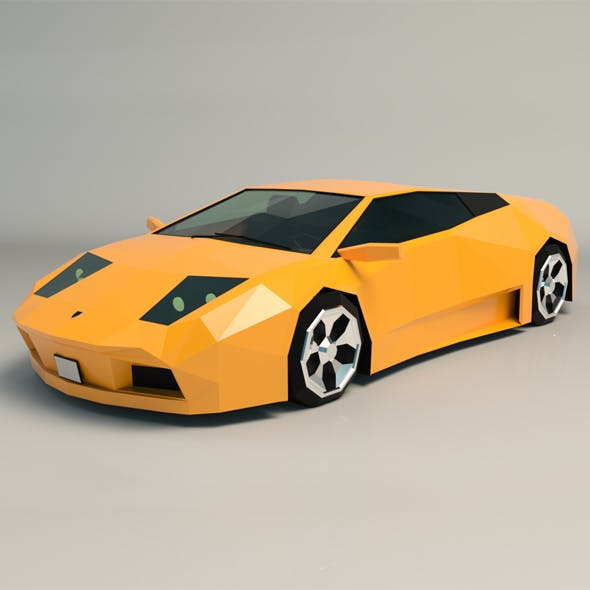 Low Poly Sports Car 02