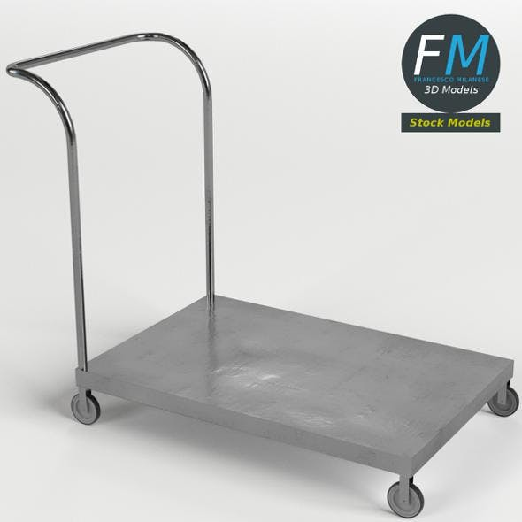 Platform trolley cart 1 - 3DOcean Item for Sale
